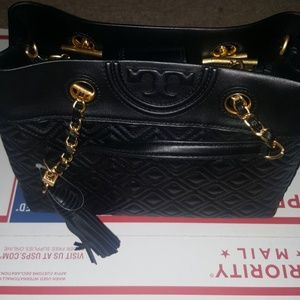 Tory Burch Fleming Small Tote- Black  Rated 3 out